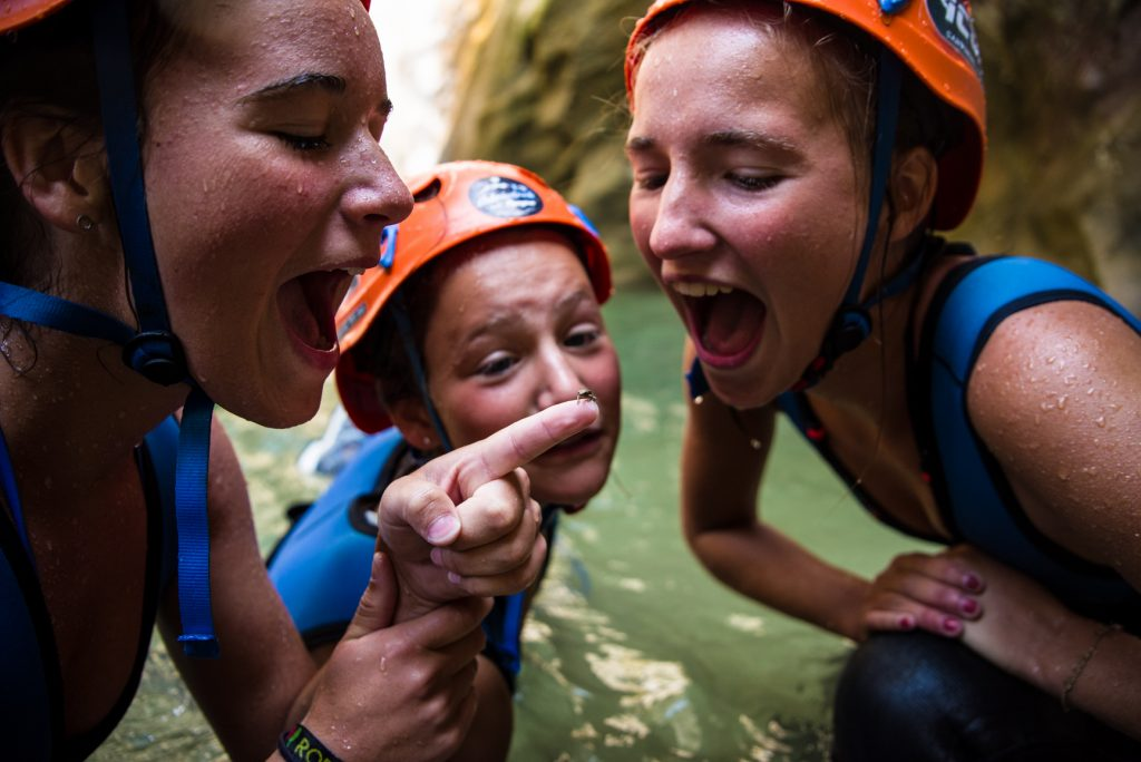 Kids learn to communicate with the canyon locals
